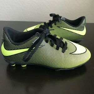 Nike Kids Bravata II FG Neon Soccer Cleats Shoes